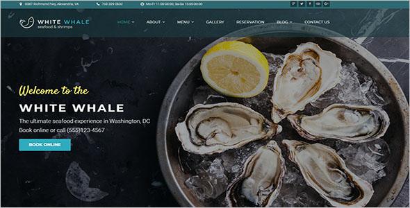 Sea Food Blog WordPress Theme