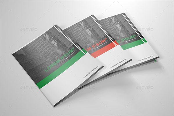 Set Of Half Fold Brochure