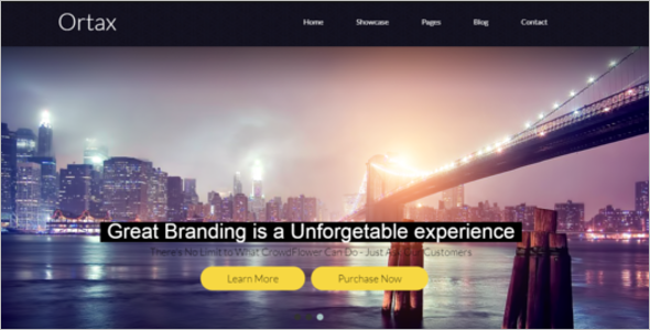 Simple Bootstrap HTML Template
