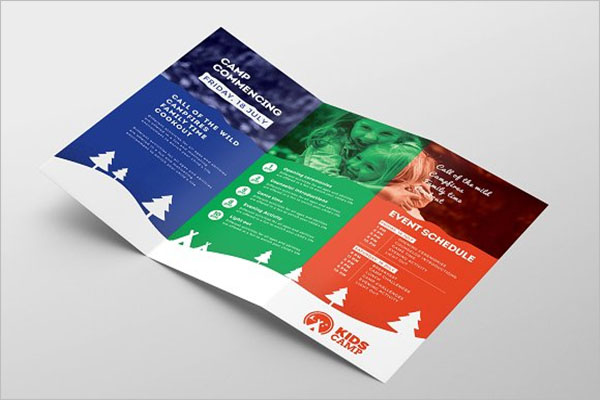 Simple Camp Brochure Template