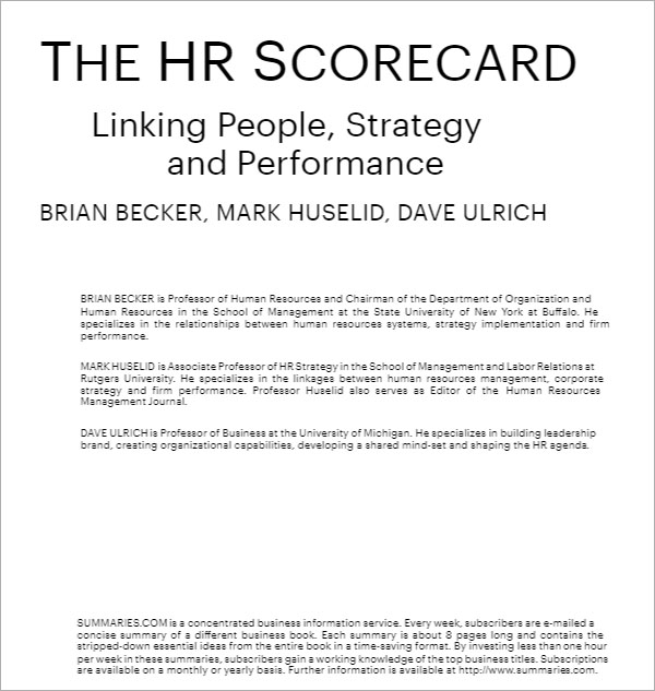 Simple HR Strategy Template