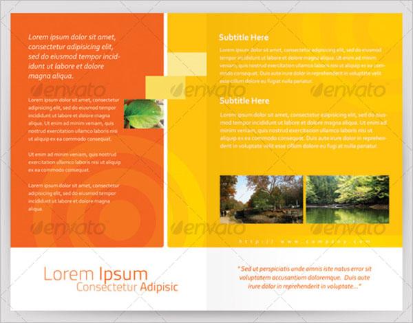 Simple Half Fold Brochure Template