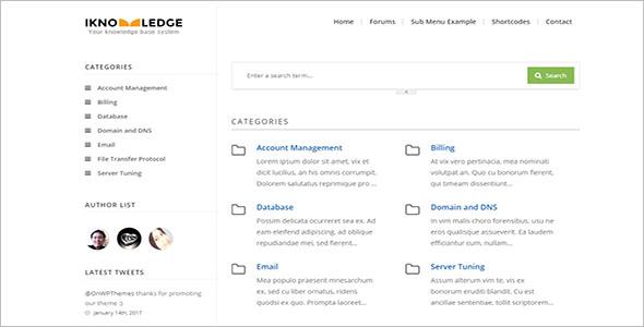 Simple Knowledge Base WordPress Theme