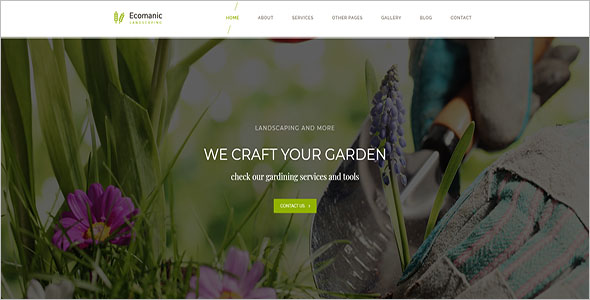 Simple Landscaping Blog Template