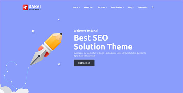 Simple Marketing Landing Page Template