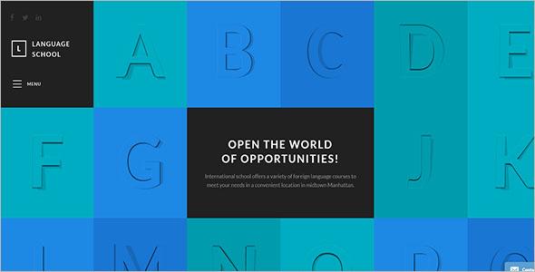 Simple School Website Template
