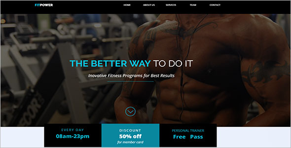 Simple Sports Landing Page Template