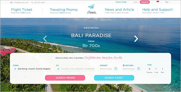 Simple Tour & Travel Website Template