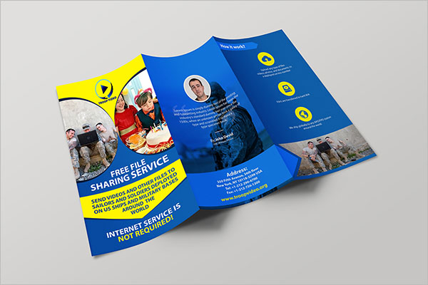 Simple Video Brochure Template Free PSD