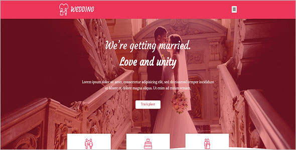 Simple Wedding Bootstrap Template