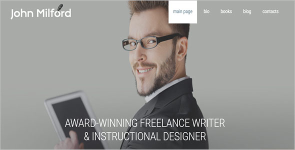 Simple Writer HTML5 Template