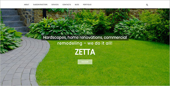 Single Page Landscaping Blog Template