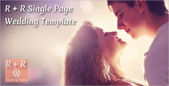 Single Page Wedding Template