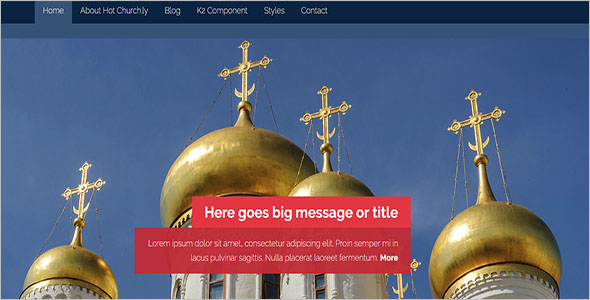 Spiritual Church Joomla Theme