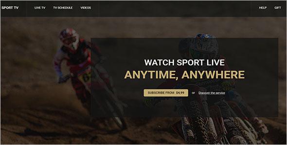 SportTv Landing Page TemplateSportTv Landing Page Template