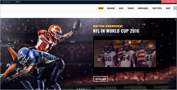 Sports Entertainment Website Template