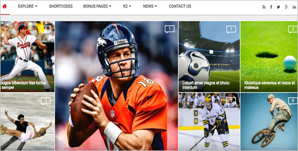 Sports News Blog Theme
