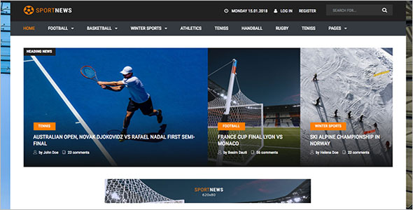 Sports Newspaper WordPress Theme