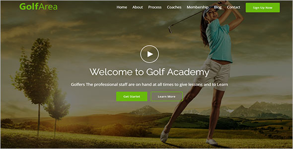 Sports School Landing Page Template