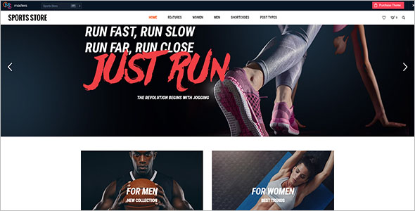 Sports Store Landing Page Template