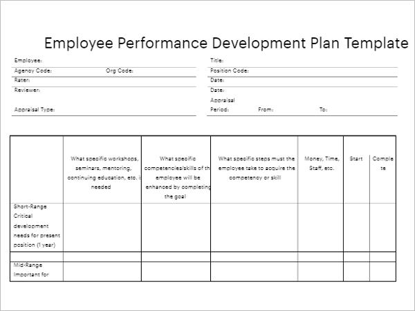 Staff Development Plan Template