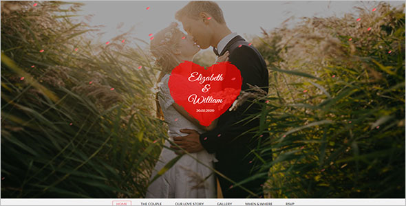 Static Wedding Landing Page Template