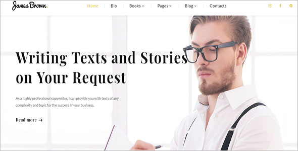 Story Writer HTML Template