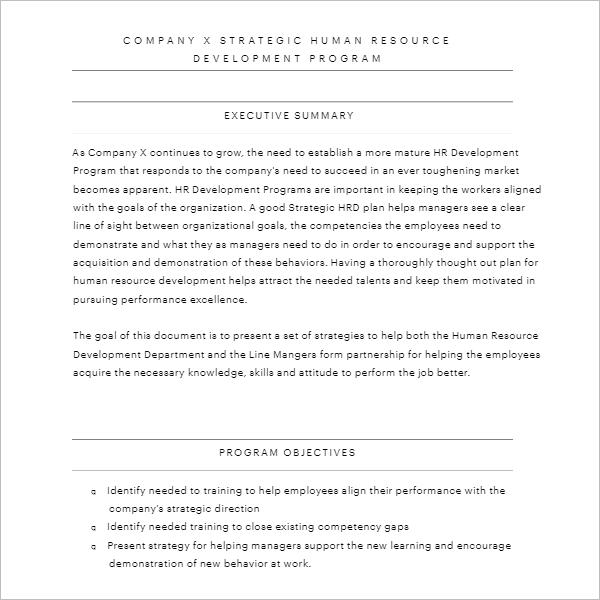 Strategic Plan Report Template
