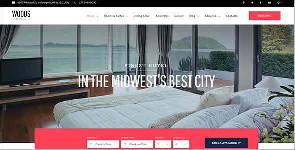 Stunning Resort Website Template