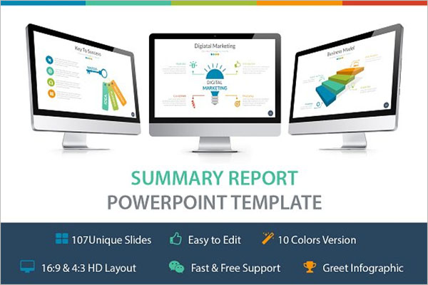 Summary Report Template PPT