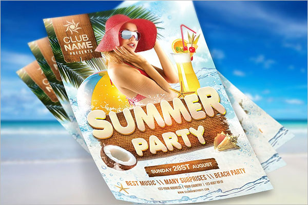 Summer Cool Party Flyer Design
