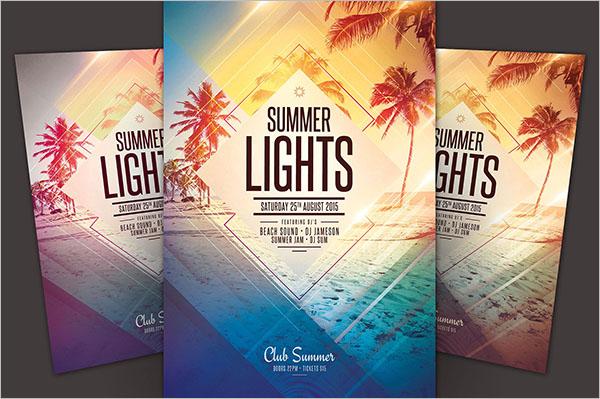 Summer Light Flyer Template