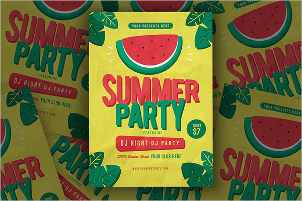 Summer Party Flyer Free Download