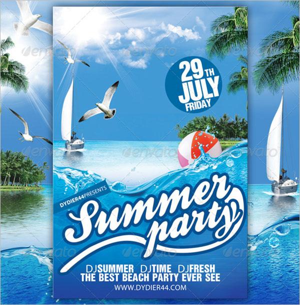 Summer Party Flyer Template PSD