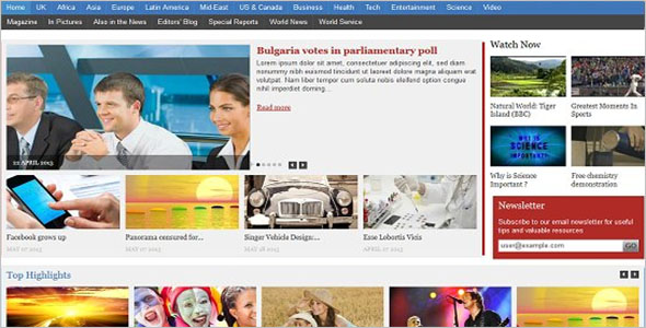 Top News Drupal Theme