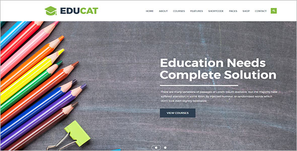Top School Website Template