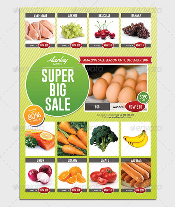 Top Selling Grocery Flyer Template