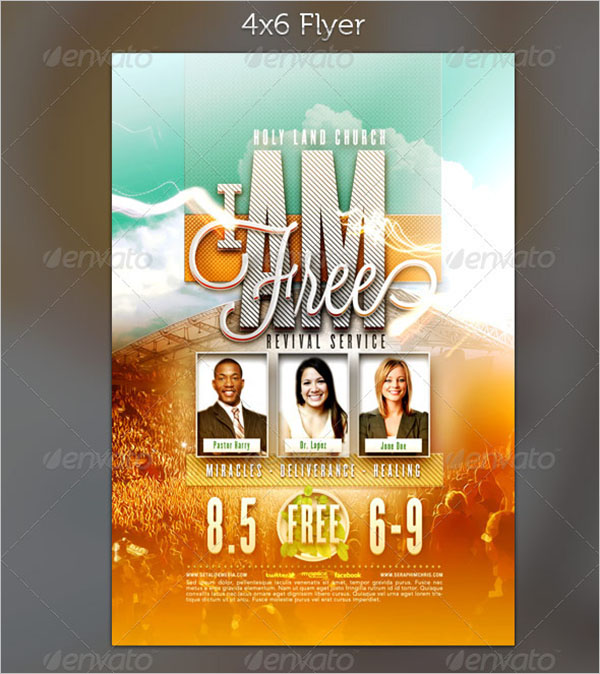 Top Selling Revival Church Flyer Template