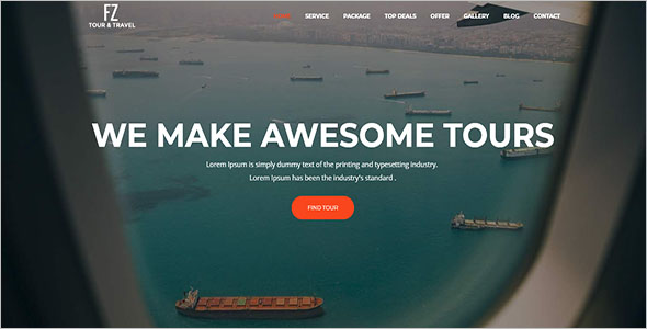 Tour & Travel Agency Website Template