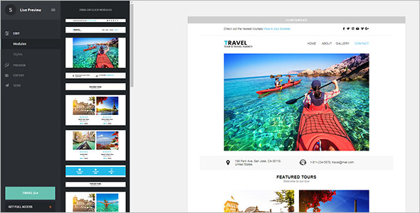 Tour & Travel Email Template