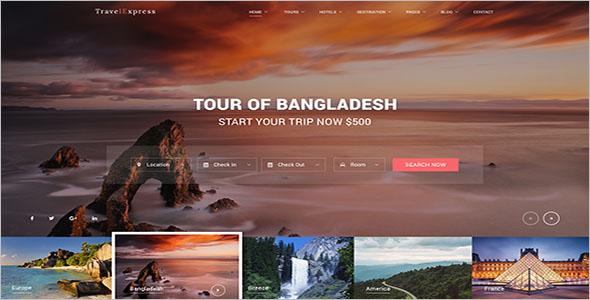 Tour, Travel Website Template