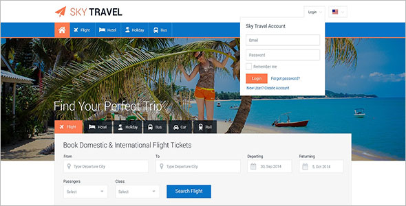 Tour & Travel Website Template Free Download