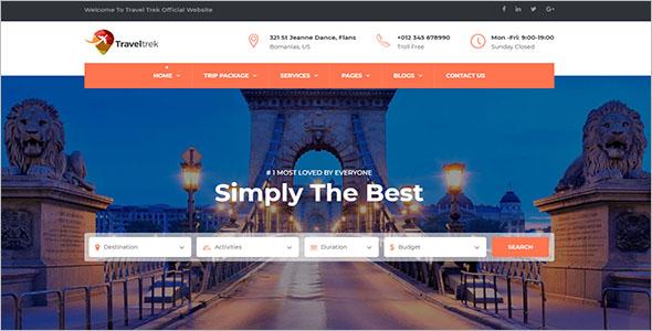 Tour & Travel Website Template
