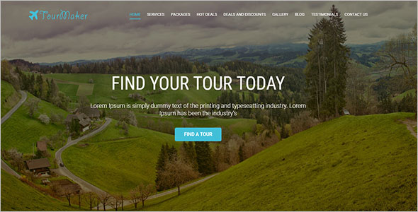Tours Website Template