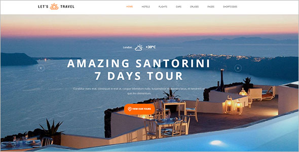 Travel Booking Site Template