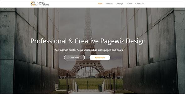 Travel Pagewiz Landing Page Template