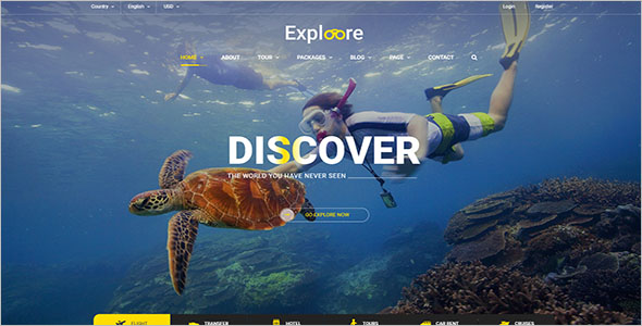 Travel Tour Booking Website Template