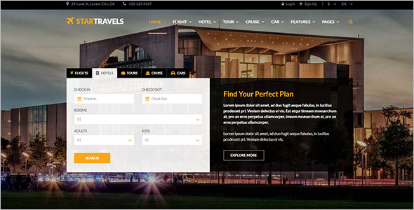 Travel, Tour, Hotel Booking HTML5 Template