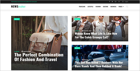 Trending Newspaper WordPress Theme