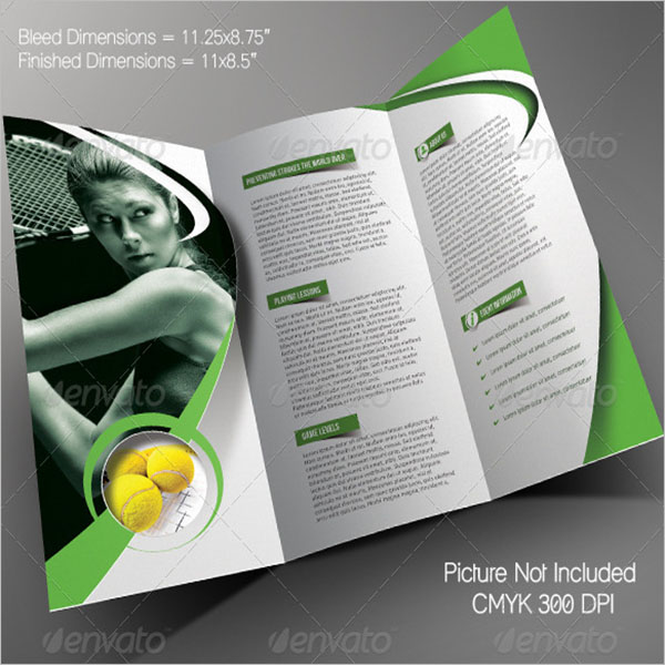 Tri-Fold Basketball Brochure Template